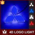 Guang Dian luz emblema do carro 4d carro levou luz Emblema Do Carro da frente auto levou logotipo EL luz fria luz logotipo para Mitsubishi asx Para cuv