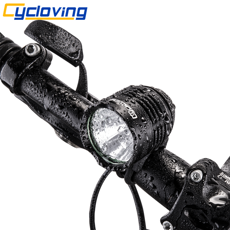 Cycloving T6 LED bicycle light bike headlight Headlamp XML-T6 1800Lums Aluminum waterproof Bicycle accessories bike bicycle xml t6 led headlamp headlight zoomable adjustable head light