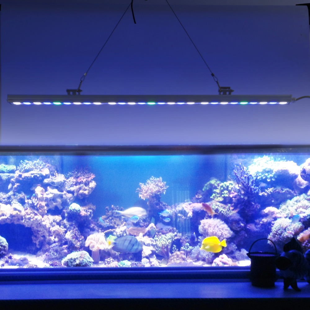 Fish tank lights for sale - 5pcs Lot Best Sale 81w Ip65 Led Aquarium Light Bar Hard Strip Lamp White Blue