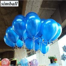 Ballon en Latex avec perles bleues, 10 pièces/lot, 1.5g, 21 couleurs, gonflables, décoration de mariage, ballon à Air, fournitures de fête joyeux anniversaire