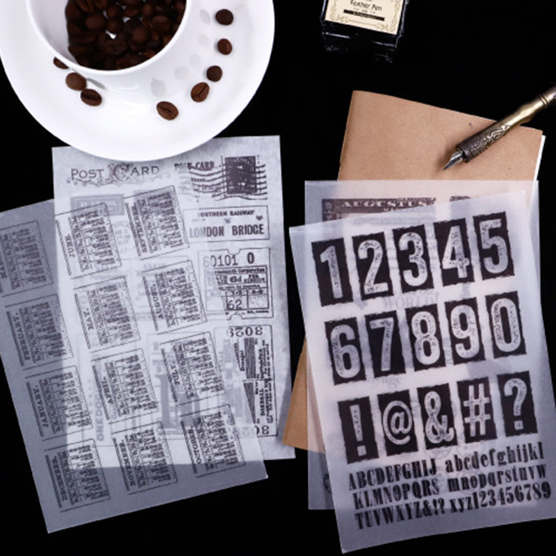 Купить с кэшбэком 16Sheets/pack Vintage Black White Sticker Scrapbooking Creative DIY Diary Journal Decorative Adhesive Flake Stationery Supplies