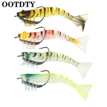 OOTDTY Fishing Bait Artificial Soft Shrimp Lure Crank Hook 10cm13g High Simulation Jigs