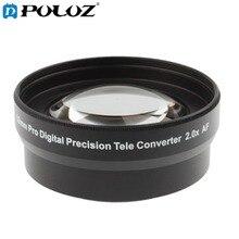 2.0X 52mm Pro Digital Precision Teleconverter Telephoto Tele Lens Tele Converter for Nikon D7100 D5000 D3200 D3100 D3000