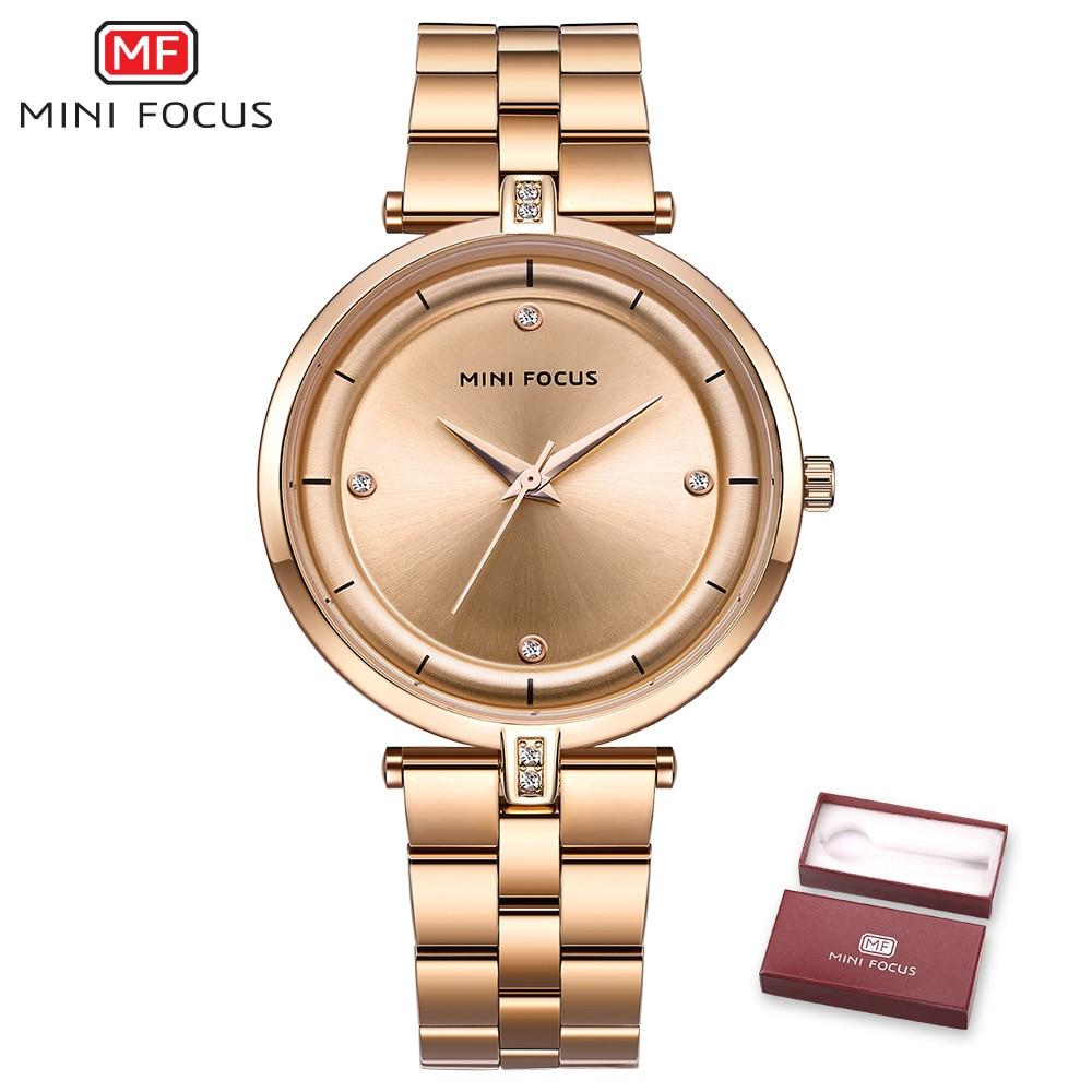 MINI FOCUS Watches Women Top Brand Luxury Quartz Watch Women Fashion Relojes Mujer Stainless Steel Ladies Quartz Wrist Watches