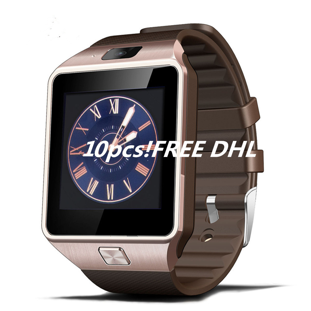 10pcs DZ09 smart watch for Apple android phone support SIM card reloj inteligente smartwatch pk gt08 wearable smart electronics