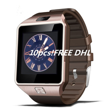 10pcs DZ09 smart watch for Apple android phone support SIM card reloj inteligente smartwatch pk gt08 wearable smart electronics