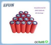 Новый высокое popwer 50 шт./лот 100% натуральная Sanyo 18650 3500 мАч литий ионный Перезаряжаемые Батарея 3,6 В NCR18650GA максимальная емкость