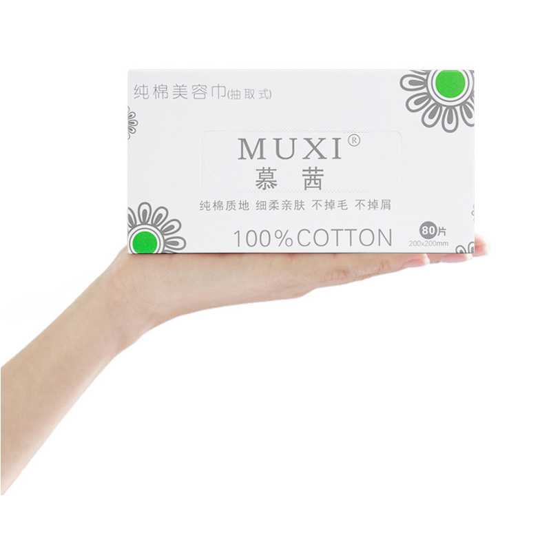 Wash Towel  80 Piece Cotton Authentic Muxi Disposable 100% Cotton Wash Towel Cleansing Towel Extractable Beauty Towel No Added