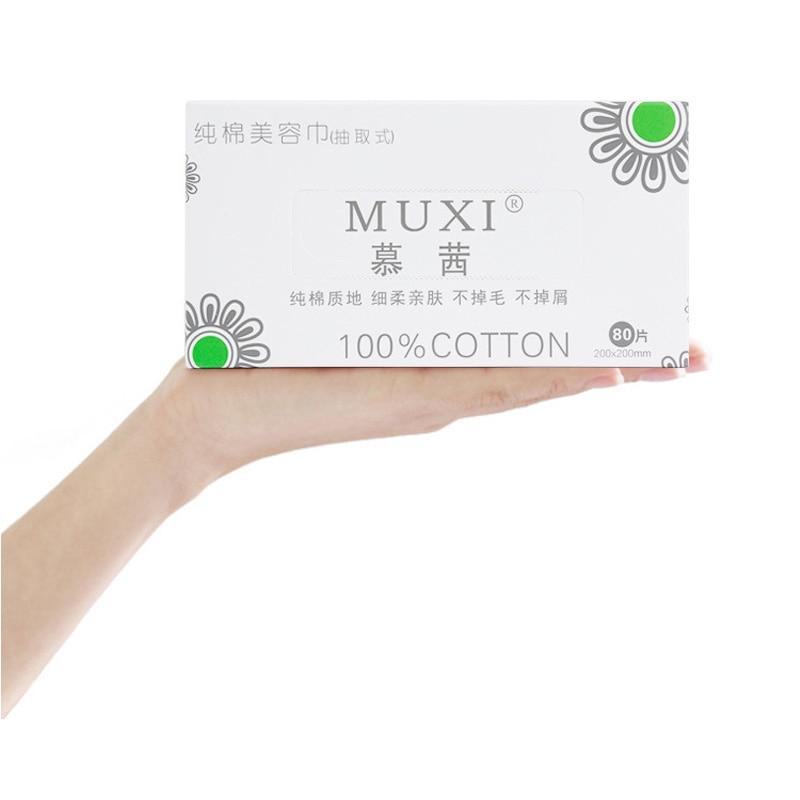 Wash Towel  80 Piece Cotton Authentic Muxi Disposable 100% Cotton Wash Towel Cleansing Towel Extractable Beauty Towel No Added