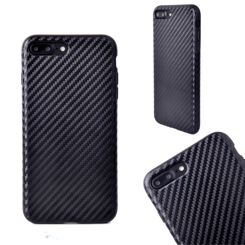 Soft TPU Carbon Fiber Cover For iPhone 6 6s Plus Phone Cases for iPhoneX 7 8 Case PU Leather Cover For Samsung Note8 S8 S8 Plus