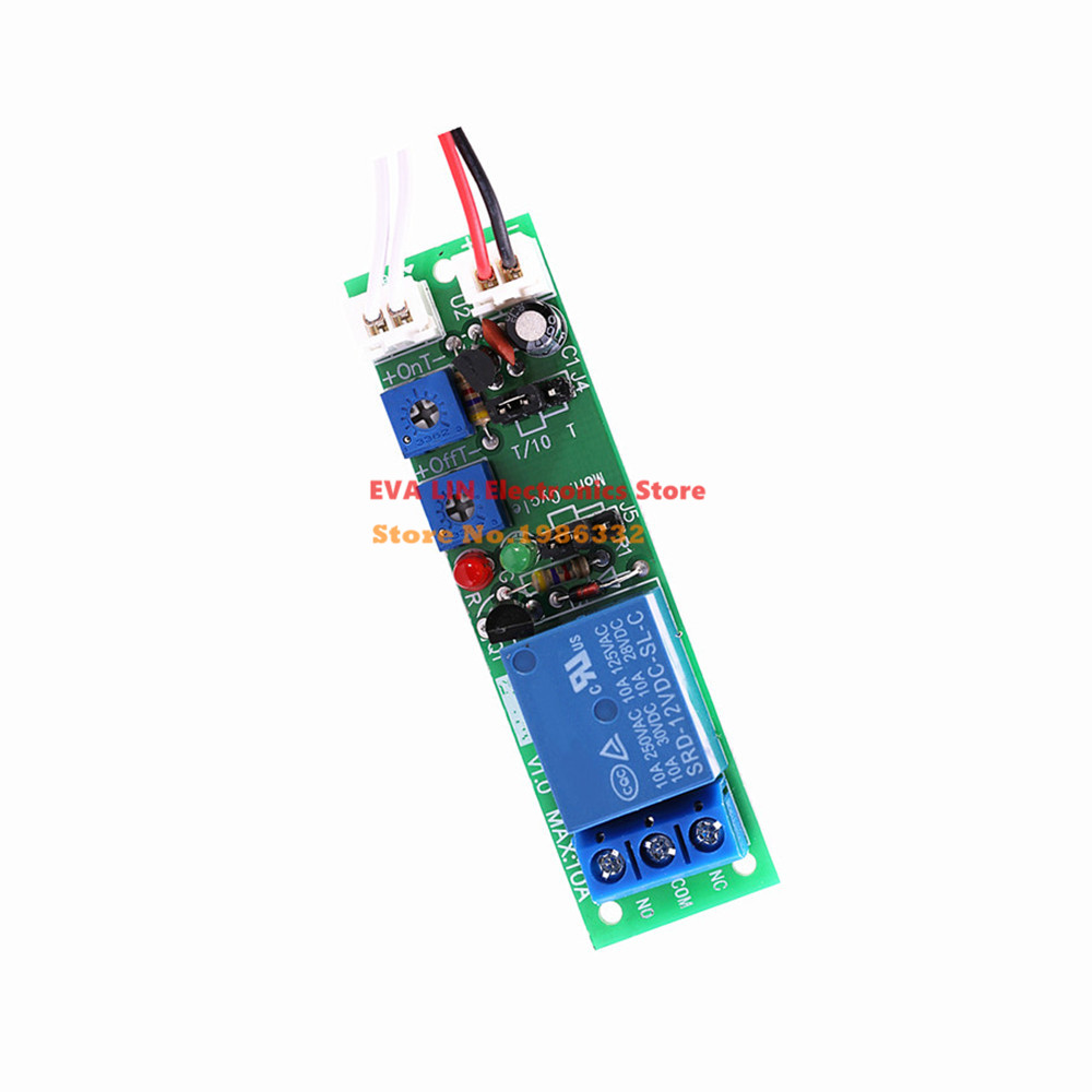 Ws16 Dc 12v Infinite Cycle Delay Timing Time Relay Timer Control On Off Loop Switch Module Double Adjustable 015 Minutes In Relays From Home Improvement