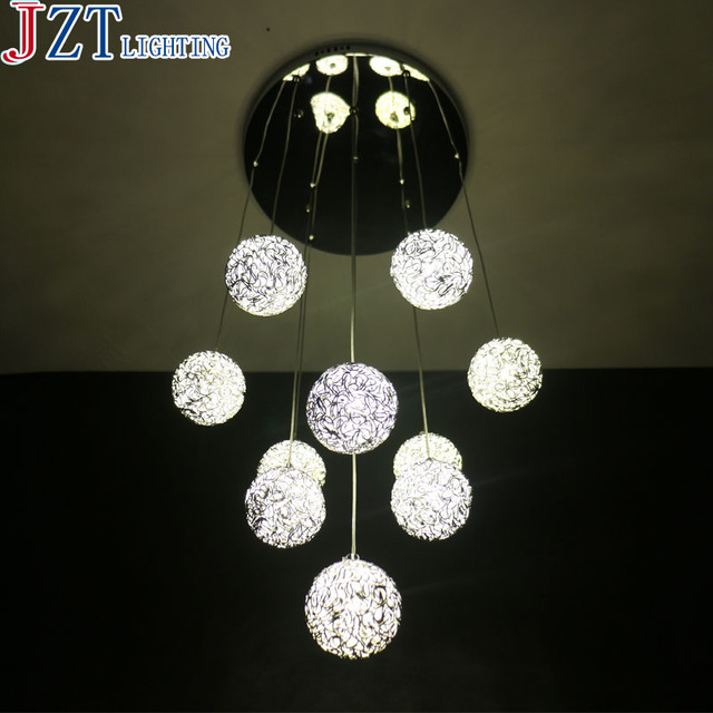 M 10 Head Aluminium Wire Ball Led Pendant Light Exquisite Hand-Woven Aluminium Wire L& & M 10 Head Aluminium Wire Ball Led Pendant Light Exquisite Hand ... azcodes.com