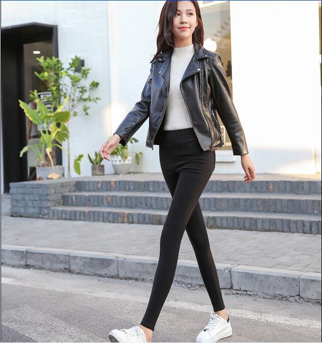 Hot sale! 2019  Autumn winter women pants velvet thickening  trousers female warm pencil pants thicker elastic trousers D251
