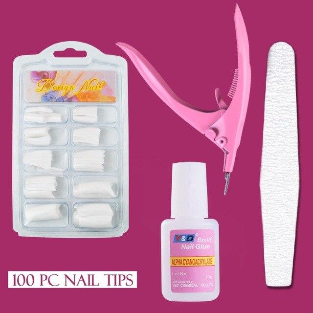 100pcs French Half Cover Acrylic Artificial Fake Nail Tips For Nail