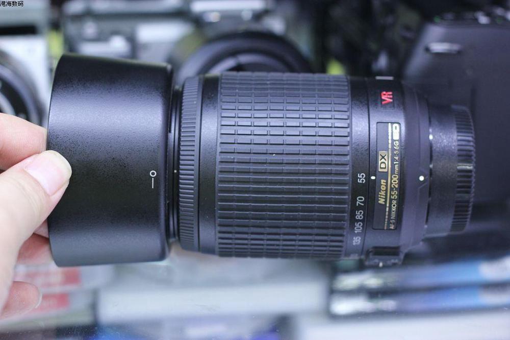 VERWENDET Nikon 55 200mm f/4 5,6G ED WENN AF S DX VR Nikkor Zoom Objektiv [Vibration Reduktion] - 3