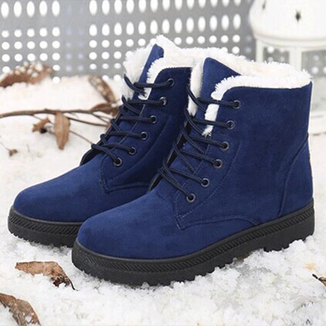 Botas de nieve botas de invierno tobillo zapatos de mujer tallas grandes zapatos de moda 2018 botas de invierno botas de moda