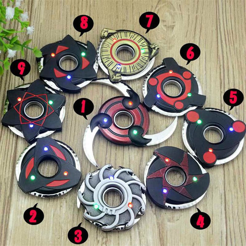 LOL Draven Shuriken Naruto Rotatable Darts led Weapon Model Kids toy Christmas Gift Cosplay Props Collection Fidget Spinner gift