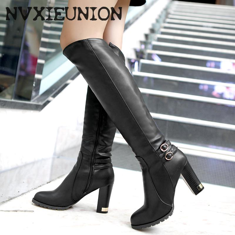 Fitted Knee High Boots Promotion-Shop for Promotional Fitted Knee ...