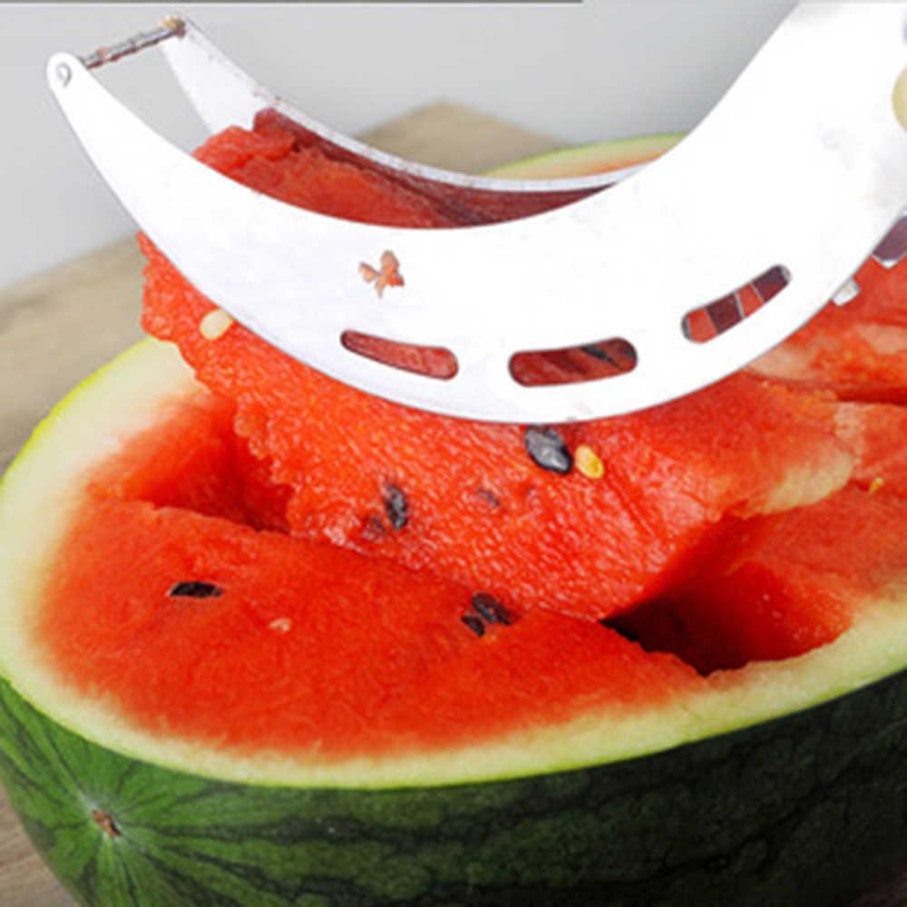 Trancheuse à pastèque en acier inoxydable   Coupe-couteau à fruits et boules à glaces boule à Melon, cuillère Double taille, ensemble d'outils de cuisine