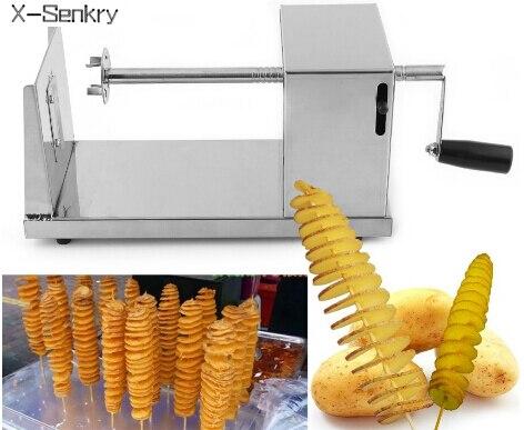 Hotsale tornado de pommes de terre machine de coupe spirale machine de découpe puces machine Accessoires de Cuisine Cuisine Outils Chopper De Pommes De Terre Puce