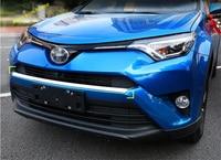 Lapetus ABS Front Face Bumper Protection Plate Molding Garnish Cover Trim 1 Pcs Fit For Toyota RAV4 RAV 4 2016 2017 2018