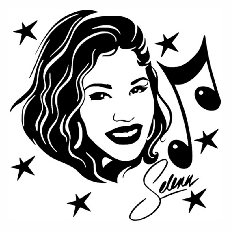 13cm*13cm Selena Quintanilla Singer Actress Music Fashion Car Sticker Black/Silver S3-4699 поглотитель запаха для холодильников selena