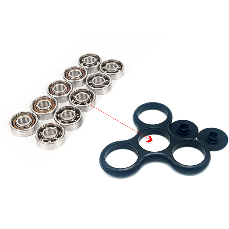 10pcs Bearing Steel Bearing 608 Bearing Spinner Bearings For DIY Fidget Spinner Hand Spiner Aluminium Figit Spinning 1000pcs spinner 608 bearing for unique fidget finger spinner triangle miniature rotating luxury toys edc hand spinners toy