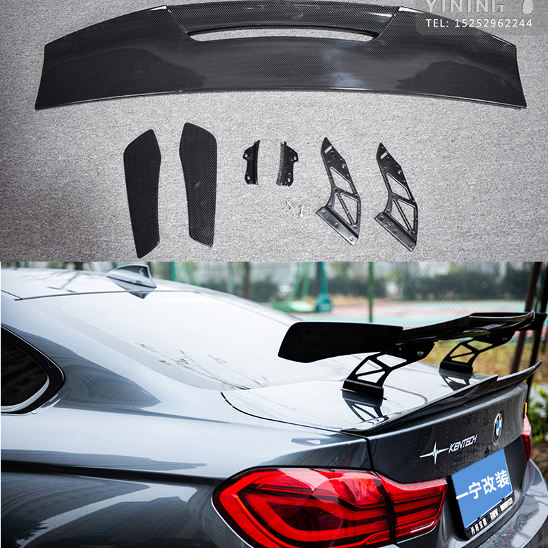 Car Styling Exterior ABS plastic Modified Rear <font><b>Spoiler</b></font> Tail Trunk Lip Wing Decoration Fit For <font><b>BMW</b></font> M1 M3 M4 M5 M6 MAD <font><b>GT</b></font> <font><b>Spoiler</b></font> image