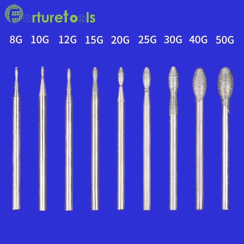 50tk teemantiga kinnitatud munakujuline teemantlihvimispea - Abrasiivtööriistad - Foto 2