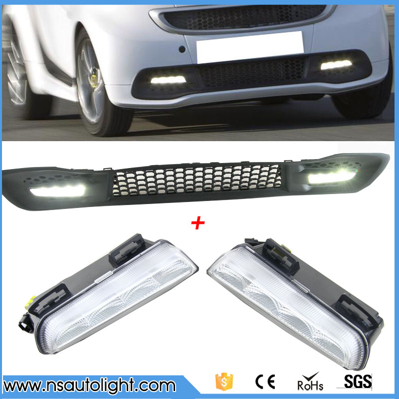 12V Car DRL kit For Mercedes-Benz smart fortwo 2012-2015 LED Daytime Running Lights bar daylight lamps auto front lamps day light led for benz smart fortwo 2008 to 2011