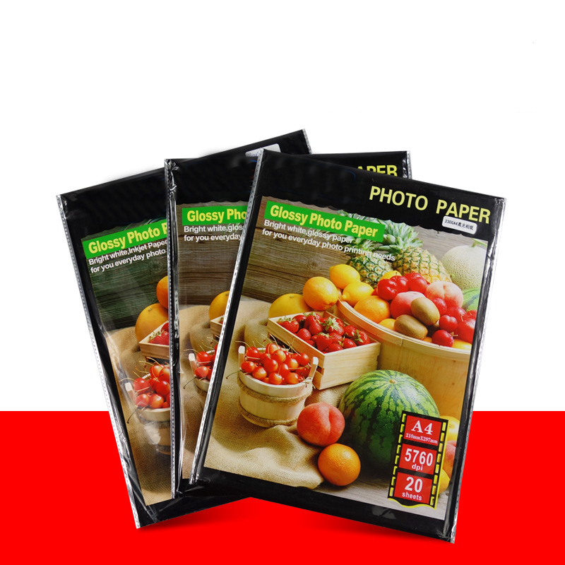 A4 Photo Paper For Color Inkjet Printers, Gloss Finish,Ultra Premium Photo Paper Luster,20 Sheets