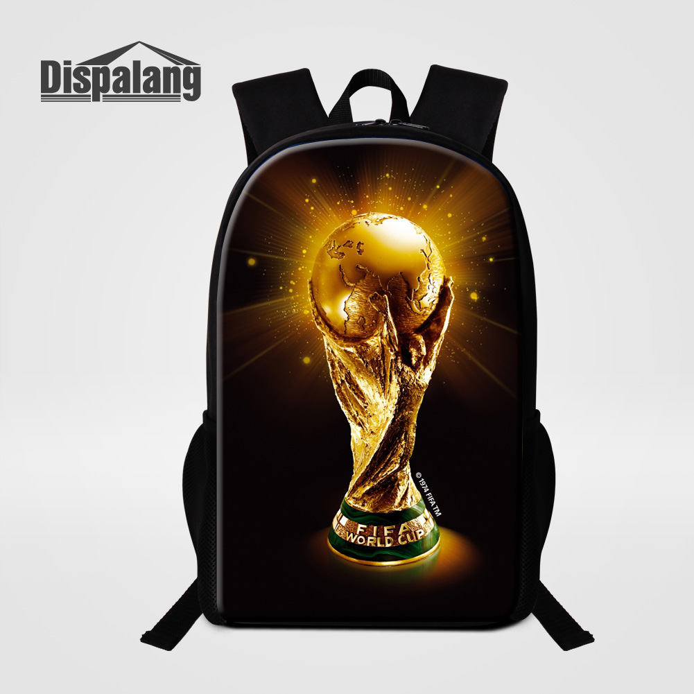 Customize Design School Bags For Boys 3D Printing Footballs Basketballs Backpack For Primary Students Trophy Cool Child Rucksack