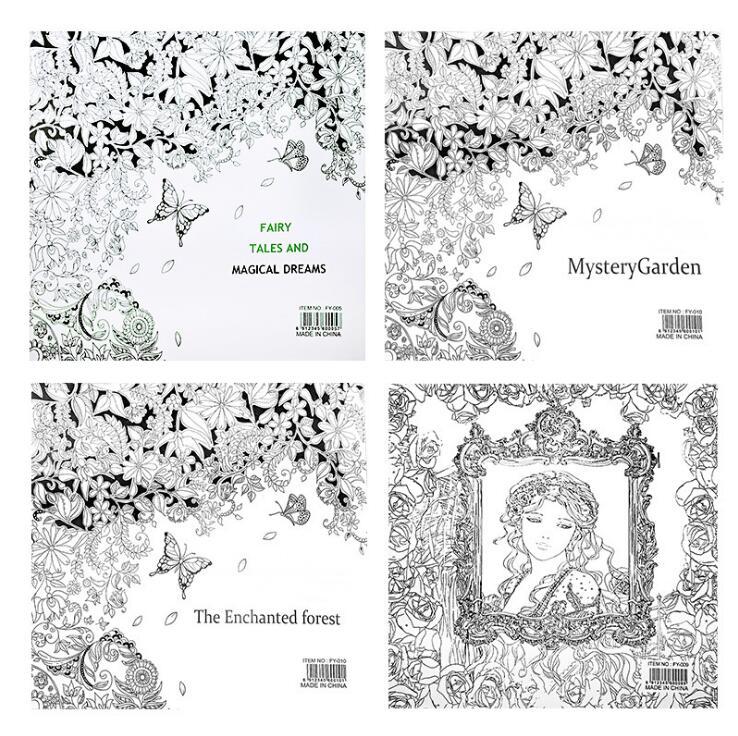 1 uniunid essecret Garden Series libros para colorear 24 páginas 25 ...