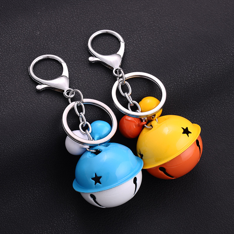 NEW Hot fashion Cartoon Game movie Key Car 12 colors keychian Lovely bell alloy keychain wedding favors keychain image