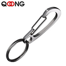 QOONG Custom Engraved Keychain For Car Logo Name Stainless Steel Personalized Gift Customized Anti-lost Keyring Key Chain Ring pure handmake stainless steel key chain car key ring creative anti lost brass key chain