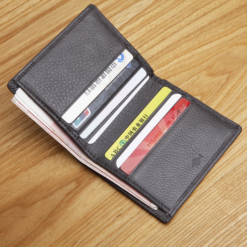 LAN genuine leather mens wallet multi holders slim wallet famous brand coin purses holders