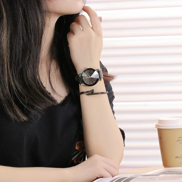 Black Casual Simple Quartz Clock Watch 3