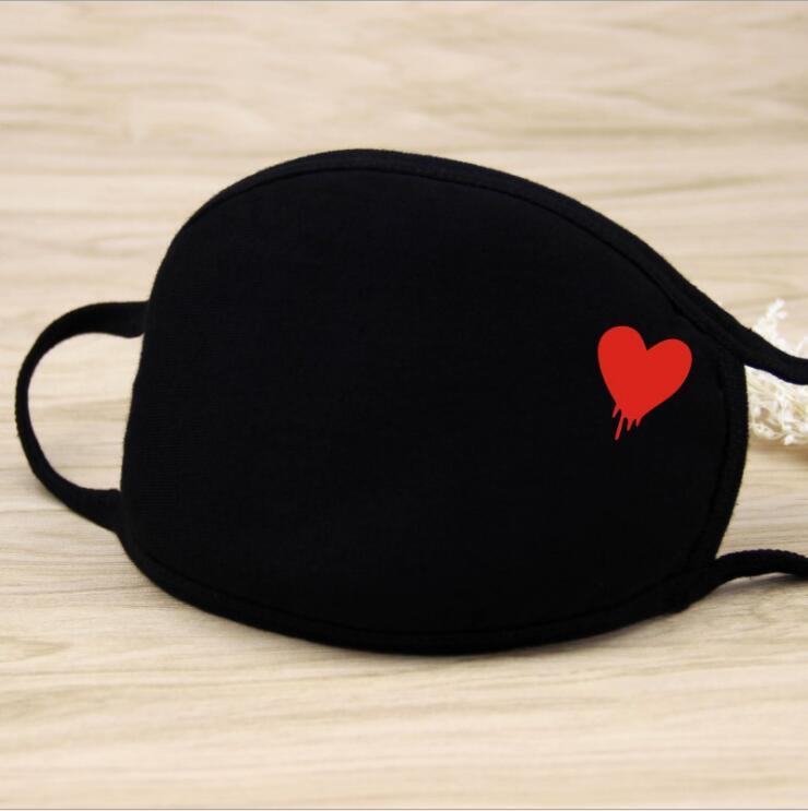 Kenntnisreich Liebe Baumwolle Pm2.5 Mund Maske Unisex 22 Arten Männer Und Frauen Neue Baumwolle Mode Schwarz Reiten Staub Kalt Verdickung Mund Maske üBerlegene In QualitäT