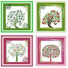 The Tree of Life Patterns Counted Cross Stitch 11CT 14CT Cross Stitch Sets Chinese Cross-stitch Kits Embroidery Needlework(China)