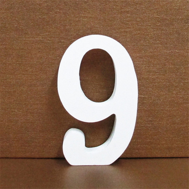 1pc 10CMX10CM White Wooden Letter English Alphabet DIY Personalised Name Design Art Craft Free Standing Heart Wedding Home Decor 4