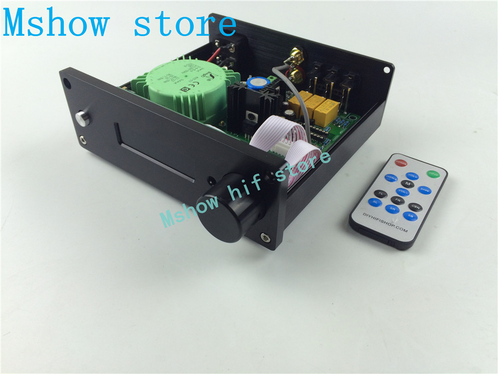Mshow hifi audio New version PGA2311 DIP8 chip Preamp Stero Remote Volume Controller Pre-amplifier 3 ways input free shipping free shipping 10pcs xn1203hdp dip8
