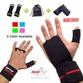 Runtop workout fitness gym levantamento de peso luvas crossfit apertos de mão de couro almofada palma proteger apoio para o punho cinta envoltório brace