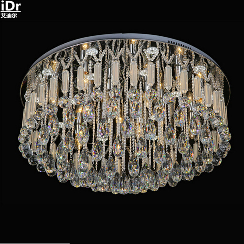 Round high-grade low-voltage lights crystal clear light glass rod LED Crystal Light Ceiling Lights fashion