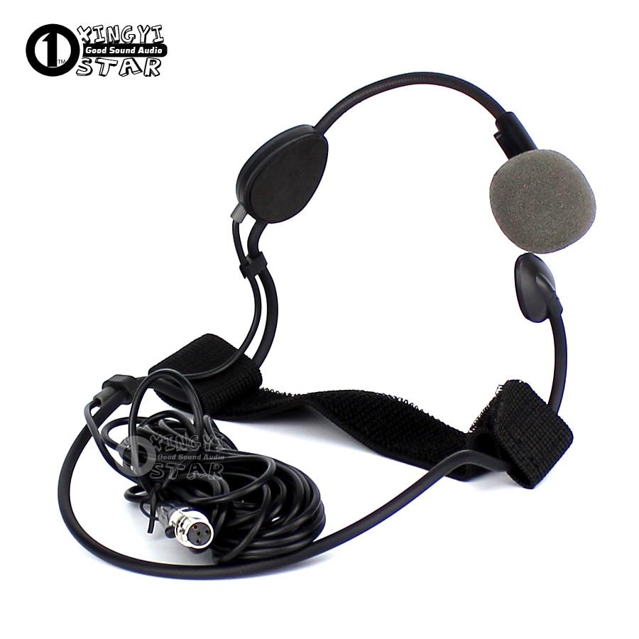 5 ADET 5 m Mini XLR 4 Pin TA4F Vokal Kulaklık mikrofon Profesyonel Dinamik Mikrofon SHURE