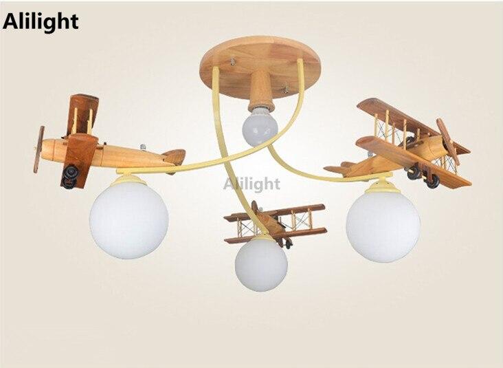 Modern Airplane Led Ceiling Light Children Bedroom Ceiling