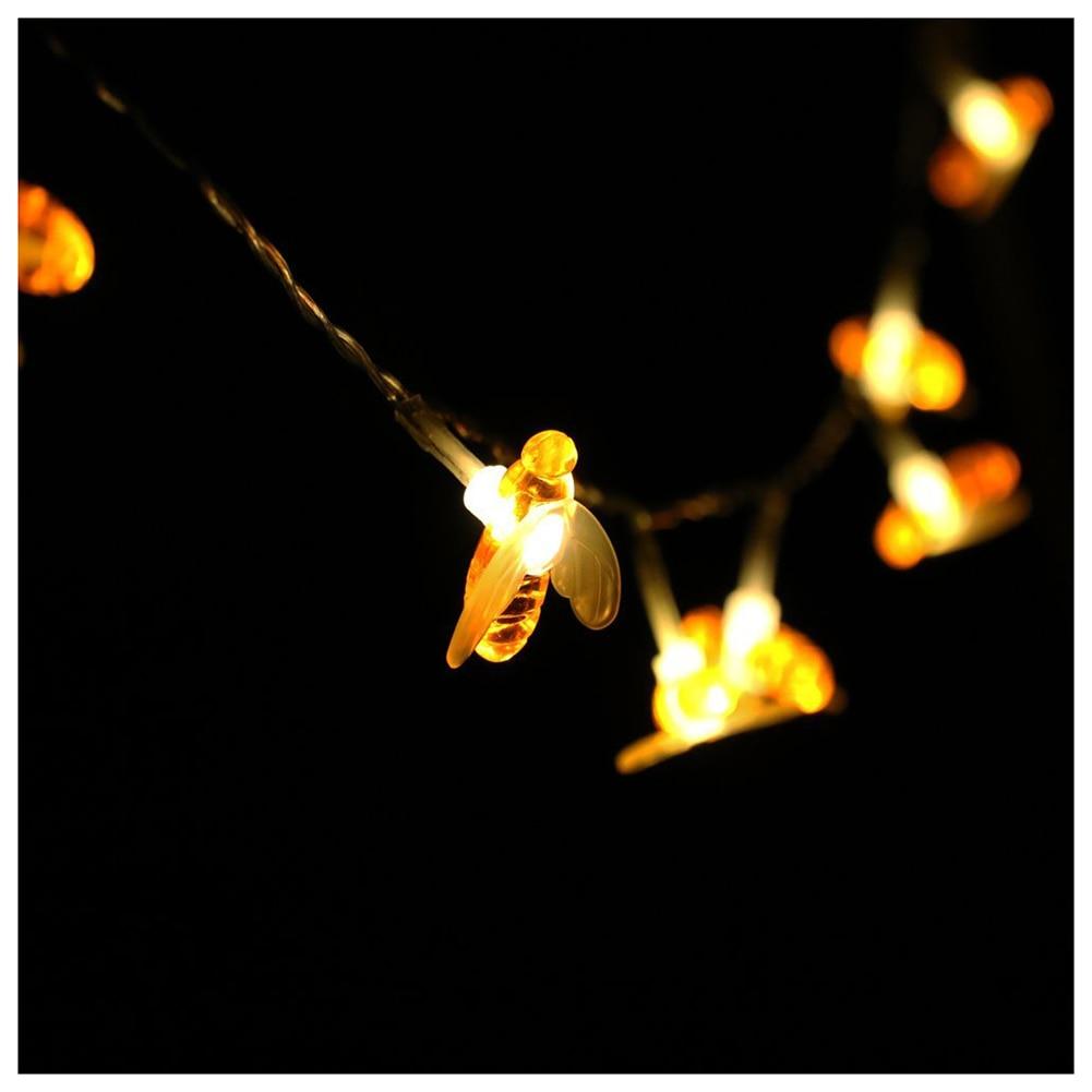 BIFI-Honeybee Fairy String Lights,20 LED Honeybee Battery Power Led String Lights for Party,Wedding,Xmas,Decoration,Gardens,Pa