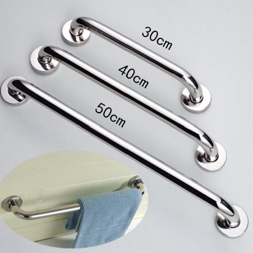 Towel Grab Bar Stainless Steel Holder Wall Bar Handle Bathroom Thicken Vanity Home Room Bath 300/400/500mm