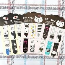 6 шт./компл. Kawaii Oreo кошка магнитные закладки для книг маркер страницы канцелярские принадлежности для школьных канцелярских товаров студенческий приз