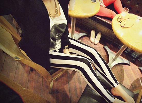 New Design Many Fashion Striped Series Printed Leggings Summer Spring Harajuku Style Creative Leggins Fitness Women Sexy Pants