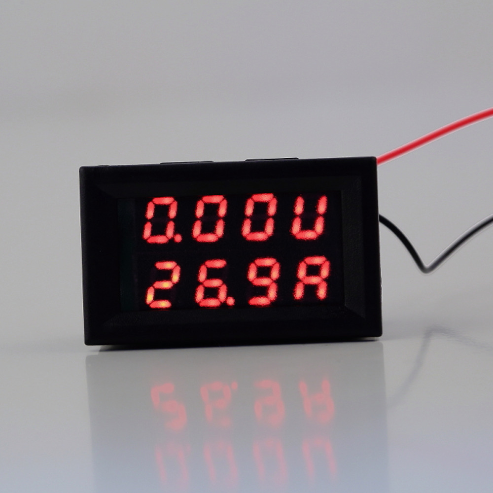 1pcs Best Selling Red Blue Led Dc 0 100v 10a Dual Digital Voltmeter Top Popular Multimeter Ammeter Circuit Tester With Current Meter Panel Amp Volt Gauge Hot Worldwide In Voltage Meters From Tools On